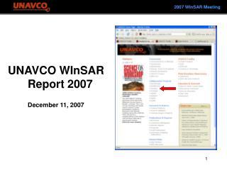 2007 WInSAR Meeting