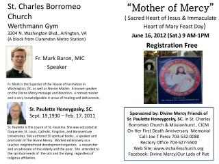 �Mother of Mercy� ( Sacred Heart of Jesus & Immaculate Heart of Mary Feast Day )