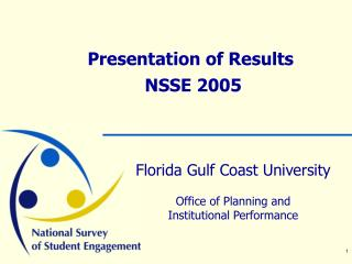 Presentation of Results  NSSE 2005