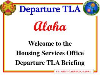 Departure TLA