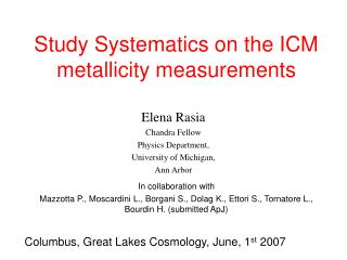 Study Systematics on the ICM metallicity measurements