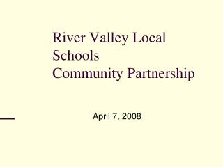 River Valley Local Schools Community Partnership