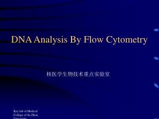 DNA Analysis By Flow Cytometry