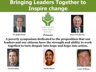 Bringing Leaders Together to Inspire change