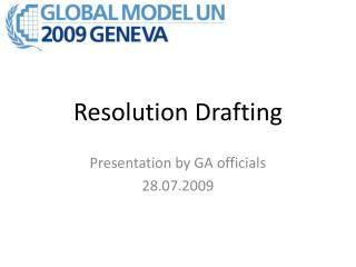 Resolution Drafting