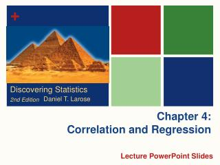 Chapter 4: Correlation and Regression