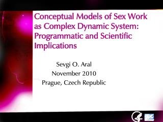Conceptual Models of Sex Work as Complex Dynamic System:  Programmatic and Scientific Implications