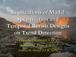 Implications of Model Specification and Temporal Revisit Designs on Trend Detection