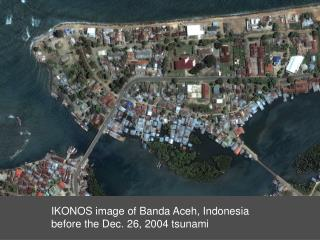 IKONOS image of Banda Aceh, Indonesia  before the Dec. 26, 2004 tsunami