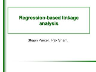 Regression-based linkage analysis