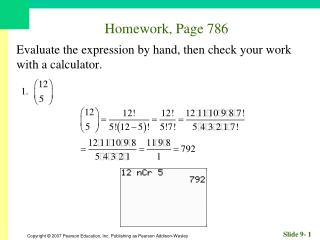 Homework, Page 786