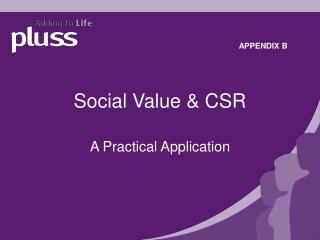 Social Value & CSR