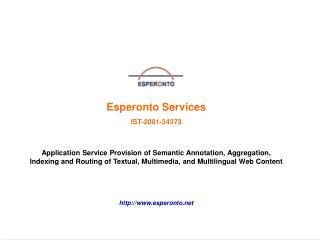 Esperonto Services IST-2001-34373
