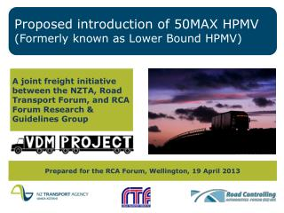 Proposed introduction of 50MAX HPMV (Formerly known as Lower Bound HPMV)
