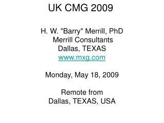 UK CMG 2009