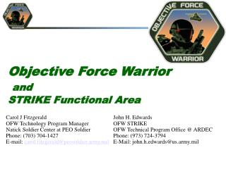 Objective Force Warrior and STRIKE Functional Area
