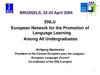 BRUSSELS, 23-24 April 2004
