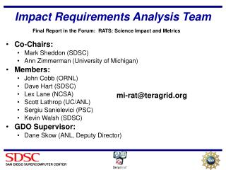 Impact Requirements Analysis Team