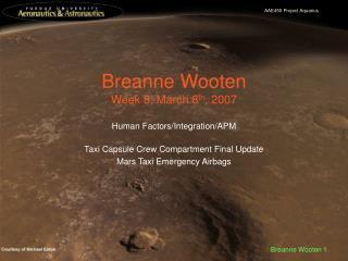 Breanne Wooten Week 8: March 8 th , 2007