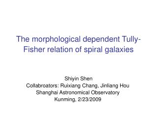 The morphological dependent Tully-Fisher relation of spiral galaxies