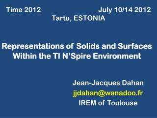 Representations of Solids and Surfaces Within the TI N'Spire Environment
