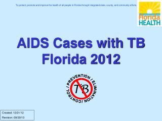 AIDS Cases with TB Florida 2012