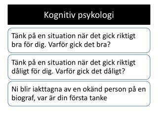 Kognitiv psykologi