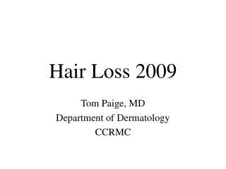 Hair Loss 2009