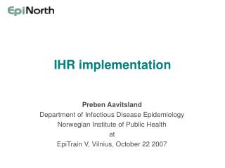IHR implementation