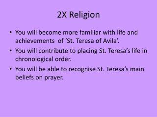 2X Religion