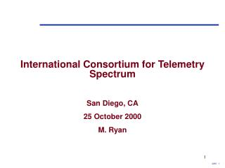International Consortium for Telemetry Spectrum