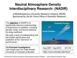 Neutral Atmosphere Density  Interdisciplinary Research: (NADIR)