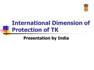 International Dimension of Protection of TK