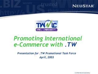 Promoting International  e-Commerce with  .TW