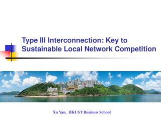 Type III Interconnection: Key to Sustainable Local Network Competition