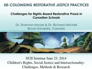 SUII Seminar June 23, 2014