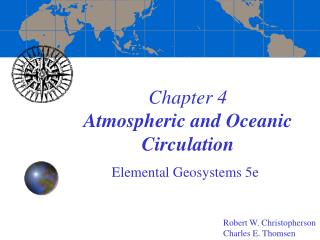 Chapter 4 Atmospheric and Oceanic Circulation