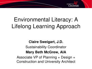 Environmental Literacy: A Lifelong Learning Approach