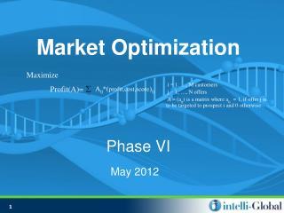 Market Optimization Phase VI