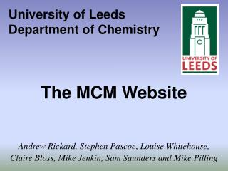 University of Leeds Department of Chemistry