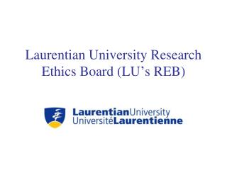Laurentian University Research Ethics Board (LU's REB)