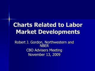 Charts Related to Labor Market Developments