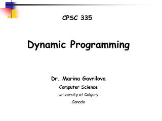 CPSC 335
