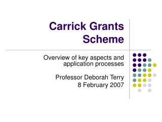 Carrick Grants Scheme