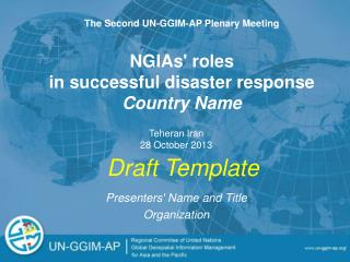 NGIAs' roles  in successful disaster response Country Name
