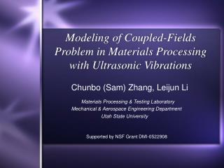 Modeling of Coupled-Fields Problem in Materials Processing with Ultrasonic Vibrations