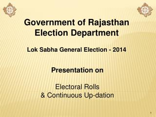 Government of Rajasthan Election Department Lok Sabha General Election - 2014