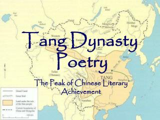 Tang Dynasty  Poetry