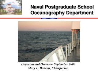 Naval Postgraduate School Oceanography Department