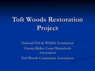 Toft Woods Restoration Project
